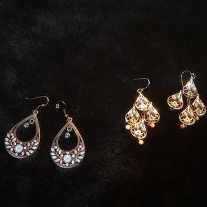 ANTHROPOLOGIE VINTAGE 2 sets of earrings
